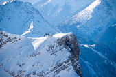 Peak with Ski Lift in the Zugspitze, Germany — Foto Stock