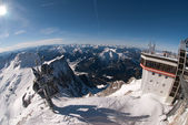 Winterlandscape in the Zugspitze, Bavary, Germany — Stock fotografie