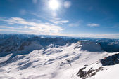 Winterlandscape in the Zugspitze, Bavary, Germany — Stock Photo