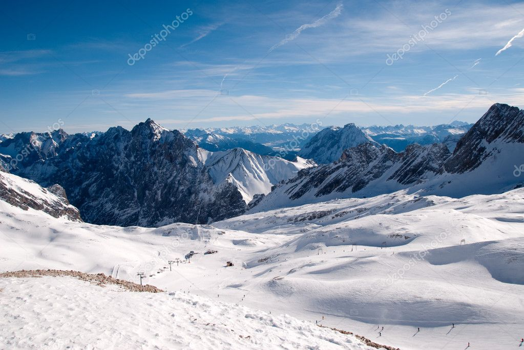 Winter landscape in the Zugspitze, Bavary, Germany. Highest Point in Germany (2962 m) — Stock Photo #4887083