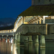 Lucerne, the Chapel Bridge — Stock Photo