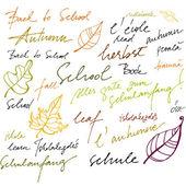 Autumn illustrated background — Stock Photo
