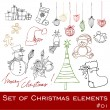 Cute Christmas elements — Stock Photo