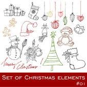 Cute Christmas elements — Stock Photo