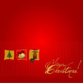 Vector cute Christmas background — Stock Photo