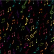 Colorful music background with notes — Stock Photo #4185248