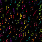 Colorful music background with notes — Stock Photo