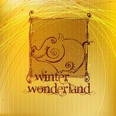 グリーティング カードのかわいいクリスマスの背景 — ストック写真