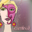 Illustrated background for your carnival design — Stock Photo