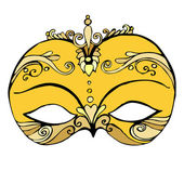 Illustrated abstract mask for your carnival design — Stockfoto