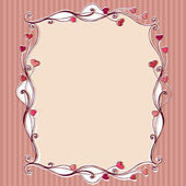 Cute floral romantic Valentine's Day background — ストック写真