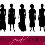 Elegant women silhouettes — Stock Photo #4969763