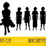 Elegant women silhouettes — Stock Photo #4969764