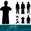 Sport's silhouettes — Stock Photo