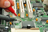 Motherboard testing — Stock Photo
