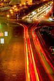 Büyük şehir trafik — Stok fotoğraf