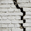 Royalty-Free Stock Photo: Old cracked brick wall