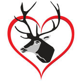 A deer with Love.Vector — Stock Vector