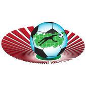 A football on the background of the stadium.Vector — 图库矢量图片