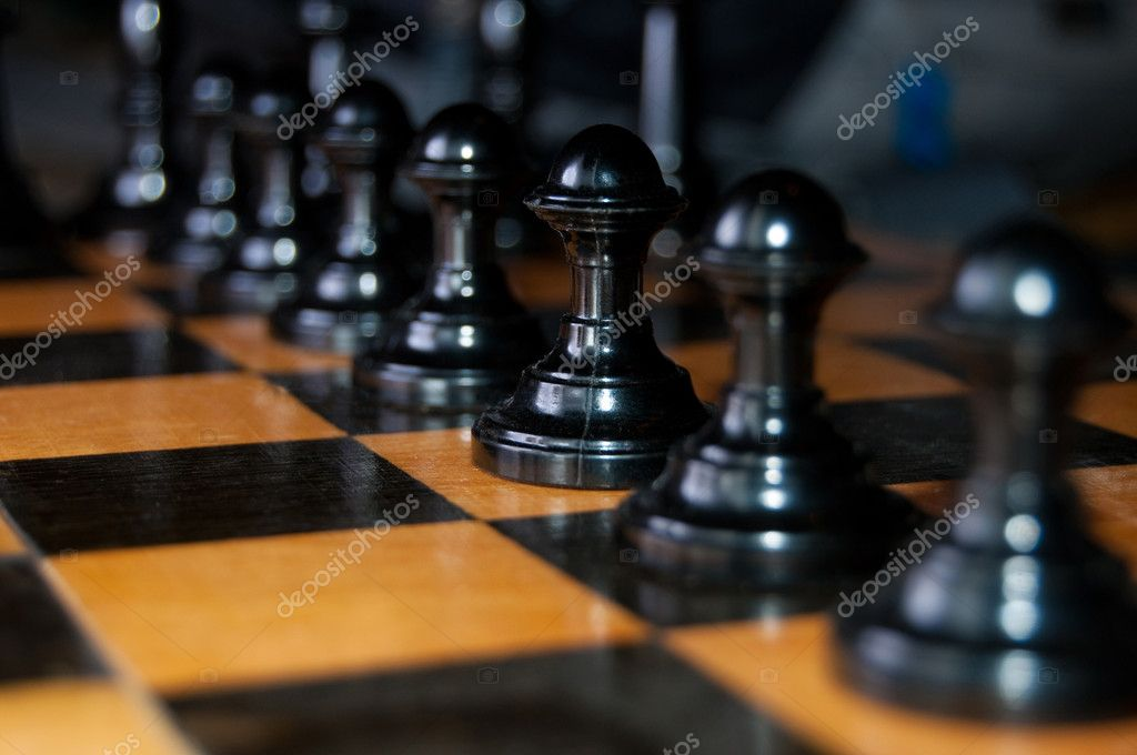 Detail photo of the chess game — Stock Photo #4869618