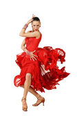 Latino dancers posing — Stock Photo