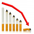 With each cigarette graph of your life steeper to end — Stock Photo #4191543