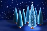森でクリスマス ツリー — ストック写真