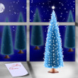 Stock Photo: Christmas tree on windowsill