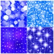 Stock Photo: Four tile seamless abstract christmas background with stars and