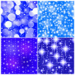 Four tile seamless abstract christmas background with stars and — Stock Photo