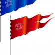 Red and blue flags — Stock Vector