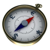 Monetary compass — Stockfoto