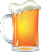 Light beer mug — Stock Vector