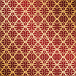 ストックベクタ: Golden and red vector ornate background