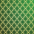 Vetorial Stock : Gold and green vector ornament background