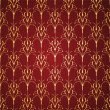 Golden and red floral ornate background - Stock Vector