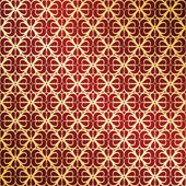 Golden and red vector ornate background — Stockvector