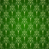 зеленый цветочный орнамент фон — Cтоковый вектор