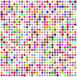 Retro circle multicolored abstract pattern - Stock Vector