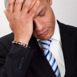 Stressed Businessman Man With Headache — Stock Photo