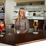 Cheerful bartender — Stock Photo