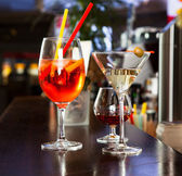 Couple of cocktail glasses — Stock Photo