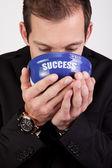 Businessman enjoying success — Stock Photo
