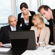 Business team at the meeting — Stock Photo