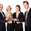 Business team celebrating success — Stockfoto