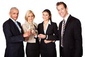 Business team celebrating success — Stock Photo