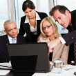 Stock Photo: Business team at meeting