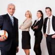 Stock Photo: Strong competitive business team