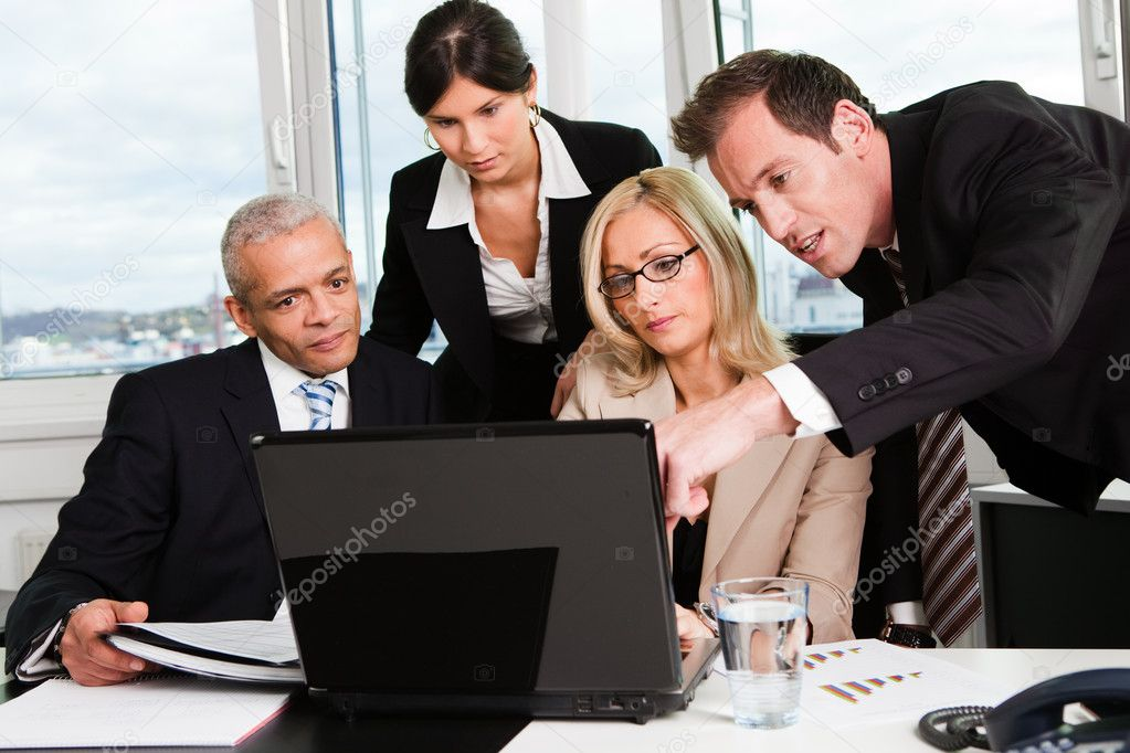 Business team at the meeting discussing work — Foto Stock #4737796