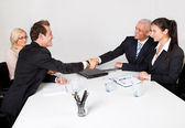 Business closing the deal — Stockfoto
